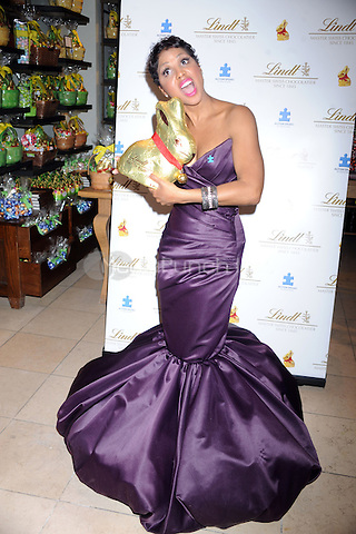 Toni Braxton at the 2011 Lindt Gold Bunny Celebrity Auction Kick-Off at the Lindt Chocolate Shop in New York City. March 30, 2011 Credit: Dennis Van Tine/MediaPunch