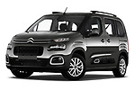 Stock pictures of low aggressive front three quarter view of a 2019 Citroen Berlingo Feel 5 Door MPV