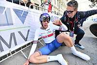 Picture by Simon Wilkinson/SWpix.com - 24/09/2018 - Cycling 2018 Road Cycling World Championships Innsbruck-Tiriol, Austria - Junior Men's Individual Time Trial - Joseph Laverick of Great Britain.