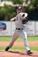 Liam Hendriks (31) of the Ft. Myers Miracle during a game vs. the Lakeland Flying Tigers June 6 2010 at Joker Marchant Stadium in Lakeland, Florida. Ft. Myers won the game against Lakeland by the score of 2-0.  Photo By Scott Jontes/Four Seam Images