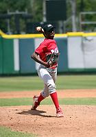 Diomede Sierra participates in the MLB International Showcase at Estadio Quisqeya on February 22-23, 2017 in Santo Domingo, Dominican Republic.