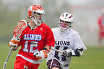 Los Angeles, CA 03/23/11 - Rhys Southworth (Illinois #12) and Henry Harries (LMU #11) in action during the Illinois-LMU non conference MCLA game at Loyola Marymount University.