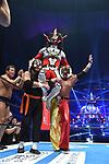Jyushin Thunder Liger, Tatsumi Fujinami, The Great Sasuke, Tiger Mask during the Jyushin Thunder Liger Retirement Match 1 New Japan Pro-Wrestling Wrestle Kingdom 14 at Tokyo Dome on January 4, 2020 in Tokyo, Japan. (Photo by New Japan Pro-Wrestling/AFLO)
