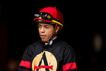 AUG 11: Asael Epsinoza at The Del Mar Thoroughbred Club in Del Mar, California on August 11, 2019. Evers/Eclipse Sportswire/CSM