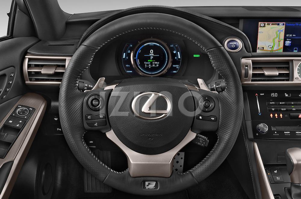 Car pictures of steering wheel view of a 2015 Lexus IS F SPORT LINE 4 Door Sedan Steering Wheel