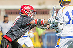 Santa Barbara, CA 04/16/16 - unidentified Chapman player(s) in action during the final regular MCLA SLC season game between Chapman and UC Santa Barbara.  Chapman defeated UCSB 15-8.