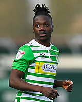 Jordan Green of Yeovil Town during Yeovil Town vs Wycombe Wanderers, Sky Bet EFL League 2 Football at Huish Park on 14th April 2018