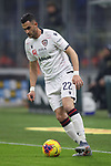 Charalampos Lykogiannis of Cagliari during the Coppa Italia match at Giuseppe Meazza, Milan. Picture date: 14th January 2020. Picture credit should read: Jonathan Moscrop/Sportimage