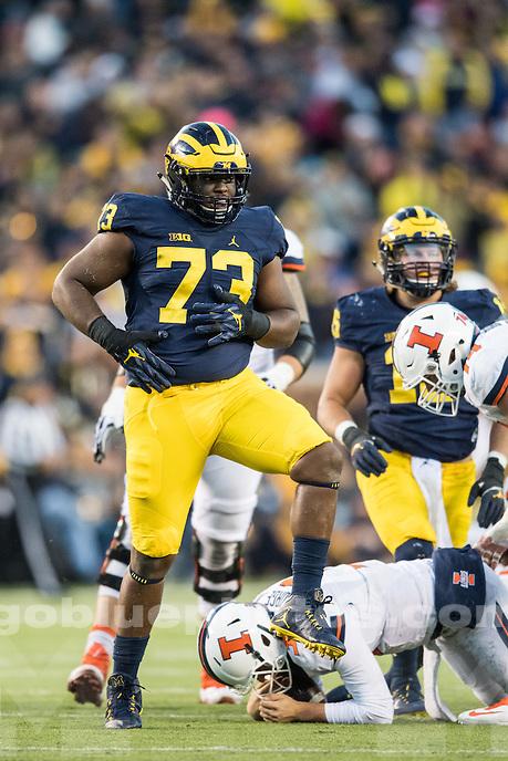 The University of Michigan defeats Illinois, 41-8, at Michigan Stadium in Ann Arbor, MI on Oct 22, 2016.