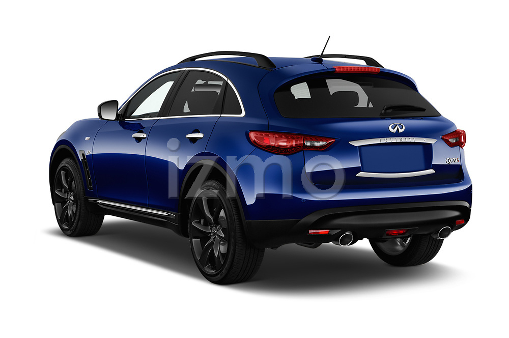 Car pictures of rear three quarter view of a 2018 Infiniti QX70 S 5 Door SUV angular rear