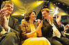Liberal Democrats<br /> Autumn Conference 2011 <br /> at the ICC, Birmingham, Great Britain <br /> <br /> 17th to 21st September 2011 <br /> <br /> Rt Hon Michael Moore - Scottish Secretary of State <br /> Miriam Gonzalez Durantez &amp; Rt Hon Danny Alexander MP <br /> watching Nick Clegg's speech <br /> <br /> <br /> Rt Hon Nick Clegg MP<br /> Leader of the Liberal Democrats<br /> Deputy Prime Minister<br /> Speech <br /> <br /> Photograph by Elliott Franks