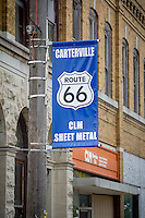 Downtown Carterville Missouri on Route 66.