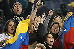 06 June 2008: Venezuela fans celebrate after the game. The Venezuela Men's National Team defeated the Brazil Men's National Team 2-0 at Gillette Stadium in Foxboro, Massachusetts in an international friendly soccer match.