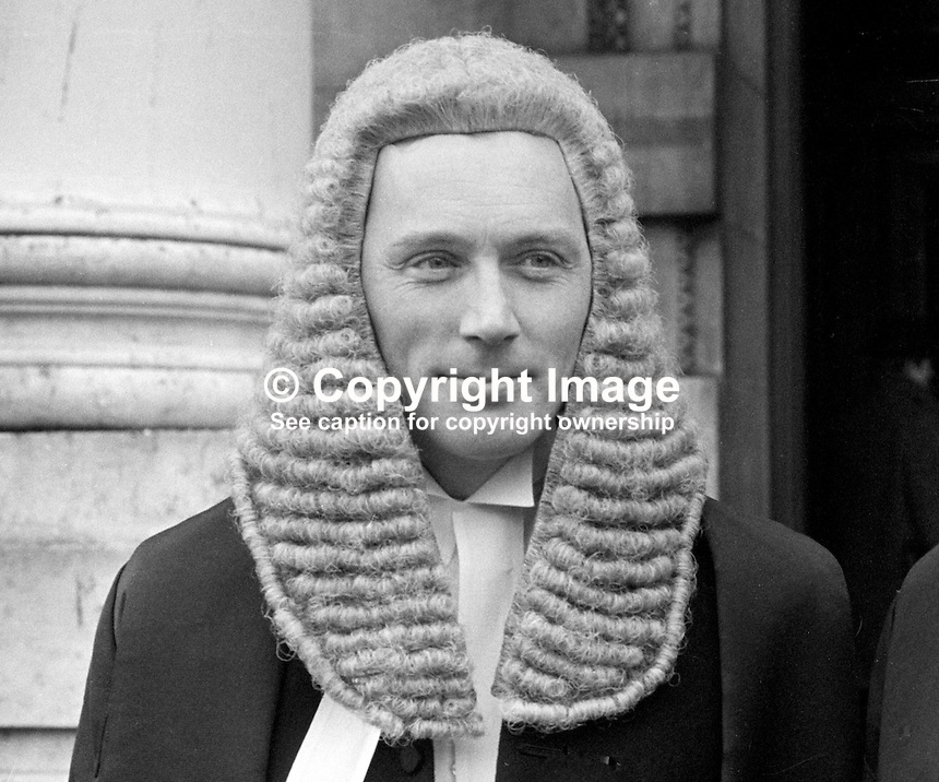Brian Hutton, barrister, Royal Courts of Justice, Belfast, N Ireland, 26th January 1970, 197001260027BH<br />