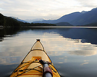 Photo taken from in my kayak at dawn on Duncan Lake. West Kootenay, BC