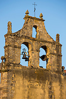 Belltower of church in Santillana del Mar, Cantabria, Northern Spain