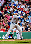22 June 2019: Toronto Blue Jays first baseman Rowdy Tellez at bat in the 7th inning against the Boston Red Sox at Fenway :Park in Boston, MA. The Blue Jays rallied to defeat the Red Sox 8-7 in the 2nd game of their 3-game series. Mandatory Credit: Ed Wolfstein Photo *** RAW (NEF) Image File Available ***