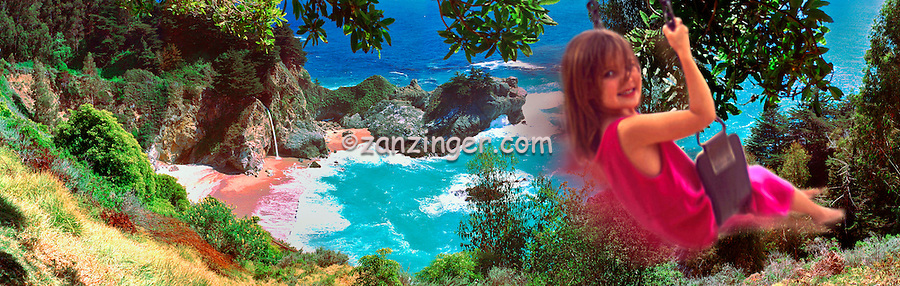 Julia Pfeiffer Burns State Park, Big Sur, California CGI Backgrounds, ,Beautiful Background