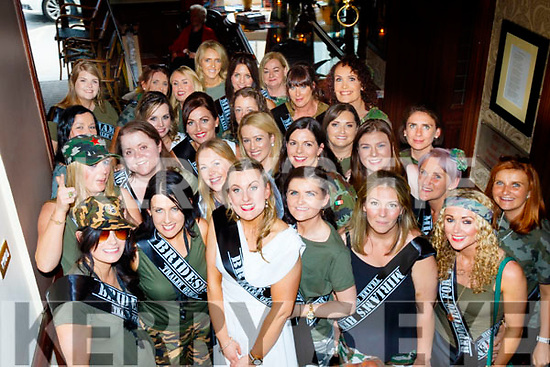 Miriam Crowley, front centre, came all the way from Co Clare to celebrate her Hen night in Tralee, pictured in the Grand Hotel, last Saturday afternoon, with many friends from Clare&Kerry including her sister who was an employee of the hotel for many years.