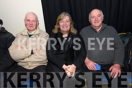 Diarmuid Ó Currain, Bríd and Michael McSweeney enjoying the Ceolchoirm 'Mórtas Cine' during Scoil Cheoil an Earraigh at Halla na Feothanaí on Friday night.