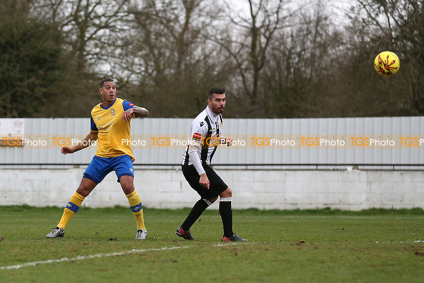Leon McKenzie of Hornchurch scores the second goal for his team during Heybridge Swifts vs AFC Hornchurch, Ryman League Division 1 North Football at The Texo Stadium, Scraley Road on 25th February 2017