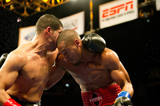 MONTVILLE, CT - FEBRUARY 10, 2012: ESPN FRIDAY NIGHT FIGHTS AT Mohegan Sun Casino..(Photo by Allen Kee / ESPN)..- RAW FILE AVAILABLE -