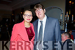 Gary O'Sullivan with his wife Karolina, who was the guest of honour at the the Kerry Supporters Social in the Ballygarry House Hotel on Saturday night.