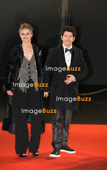 Cl&eacute;ment Sibony et sa compagne Christelle &agrave; la 39&egrave;me c&eacute;r&eacute;monie des C&eacute;sar au th&eacute;&acirc;tre du Ch&acirc;telet &agrave; Paris, le 28 f&eacute;vrier 2014.<br /> Cl&eacute;ment Sibony and girlfriend Christelle arrive at the 38th Cesar Ceremony (French movie awards) at Theatre du chatelet in Paris, France, on February, 28th 2014.