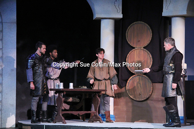 """Guiding Light's Robert Newman stars in """" The Lion in Winter"""" as Henry II - King of England July 25 through August 6 - this being the Dress Rehearsal at The Barn Theatre, Augusta, Michigan. (Photo by Sue Coflin/Max Photos)"""