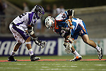 San Francisco Dragons vs Los Angeles Riptide.Lebard Stadium, Orange Coast College,Huntington Beach, California.Anthony Kelly (#34) and Greg Gurenlian (# 32).506P1097.JPG.CREDIT: Dirk Dewachter