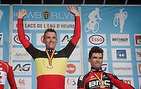 Philippe Gilbert (BEL/BMC) is the 2016 Belgian National Road Cycling Champion<br /> <br /> Les Lacs de l'Eau d'Heure
