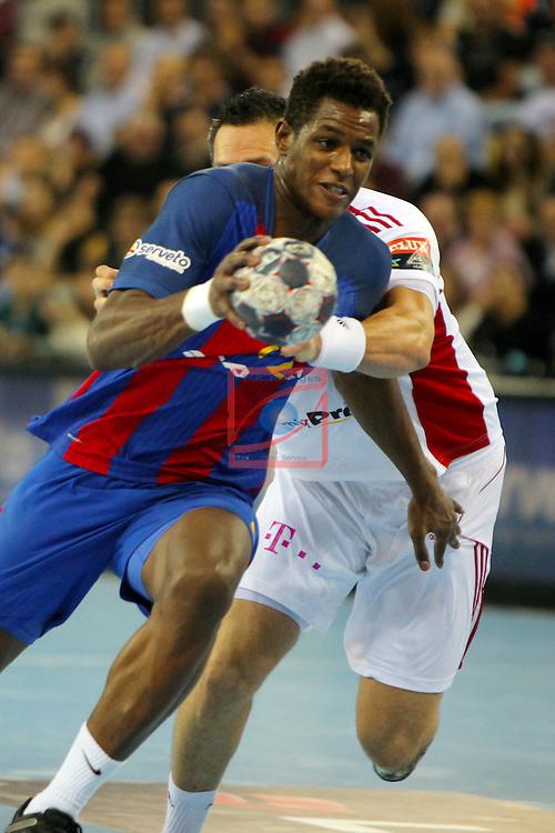 VELUX EHF <br /> 2016/17 EHF Men's Champions League Group Phase - Round 5.<br /> FC Barcelona Lassa vs Telekom Veszprem: 26-23.<br /> Wael Jallouz vs Rodriguez.