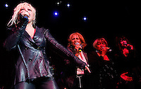 CLEVELAND - MAY 14:  (from left to right) Cyndi Lauper, Darlene Love, Mavis Staples, and Ronnie Spector perform during the Rock and Roll Hall of Fame 'It's Only Rock And Roll' benefit concert and Women Who Rock exhibit opening concert at the Cleveland Convention Center on Saturday May 14, 2011 in Cleveland, Ohio.  (Photo by Jared Wickerham/Jared Wickerham/Getty Images for Rock and Roll Hall of Fame and Museum)