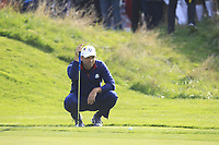 Sergio Garcia (Team Europe) on the 6th green during the Friday Foursomes at the Ryder Cup, Le Golf National, Ile-de-France, France. 28/09/2018.<br /> Picture Thos Caffrey / Golffile.ie<br /> <br /> All photo usage must carry mandatory copyright credit (© Golffile | Thos Caffrey)