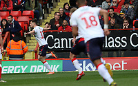 first goal scored for Middlesbrough by Paddy McNair of Middlesbrough as he celebrates during Charlton Athletic vs Middlesbrough, Sky Bet EFL Championship Football at The Valley on 7th March 2020