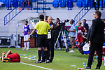 Vietnam Head Coach Park Hangseo (C) gestures after player of Vietnam  lies injured during the AFC Asian Cup UAE 2019 Round of 16 match between Jordan (JOR) and Vietnam (VIE) at Al Maktoum Stadium on 20 January 2019 in Dubai, United Arab Emirates. Photo by Marcio Rodrigo Machado / Power Sport Images