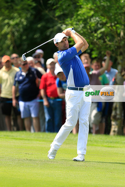 Padraig Harrington (IRL) on the 9th during Round 2 of the Irish Open at Fota Island on Friday 20th June 2014.<br /> Picture:  Thos Caffrey / www.golffile.ie