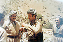 Iraq 1985  <br /> Jalal Talabani and Mullazem Omar in the mountains during the armed struggle  <br /> Irak 1985  <br /> Jalal Talabani et Mullazem Omar dans les montagnes pendant la lutte armee