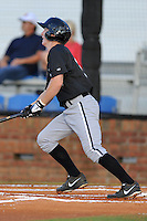 Bristol White Sox designated hitter Toby Thomas #37 swings at a pitch during a game against the Johnson City Cardinals at Howard Johnson Field on August 19, 2013 in Johnson City, Tennessee. The White Sox won the game 5-4. (Tony Farlow/Four Seam Images)