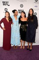 LOS ANGELES - NOV 8:  Eva Longoria, Zoe Saldana, Gina Rodriguez, Rosario Dawson at the Eva Longoria Foundation Gala at the Four Seasons Hotel on November 8, 2018 in Beverly Hills, CA