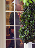United States President Donald J. Trump in the Oval Office prior to departing the South Lawn of the White House in Washington, DC en route to Harrisburg, Pennsylvania where he will participate in a Make America Great Again Rally on Saturday, April 29, 2017.<br /> Credit: Ron Sachs / Pool via CNP