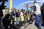 Zhandos Bizhigitov (KAZ) Astana Pro Team at sign on for the 115th edition of the Paris-Roubaix 2017 race running 257km Compiegne to Roubaix, France. 9th April 2017.<br /> Picture: Eoin Clarke | Cyclefile<br /> <br /> <br /> All photos usage must carry mandatory copyright credit (&copy; Cyclefile | Eoin Clarke)