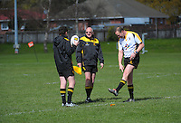 Action from the women's rugby match between Wellington Under-18 and Wellington Maori at Maoribank Park, Upper Hutt, Wellington, New Zealand on Saturday, 12 September 2015. Photo: Dave Lintott / lintottphoto.co.nz