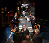 Strife <br /> by John Galsworthy<br /> directed by Bertie Carvel <br /> at Minerva theatre, Chichester, London, Great Britain <br /> Press photocall <br /> 16th August 2016 <br /> <br /> William Gaunt as John Anthony,  Ian Hughes as David Roberts and members of the company<br /> <br /> Photograph by Elliott Franks <br /> Image licensed to Elliott Franks Photography Services