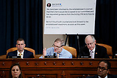 United States Representative Jim Jordan (Republican of Ohio) questions Special Advisor for Europe and Russia in the office of US Vice President Mike Pence, Jennifer Williams and Director for European Affairs of the National Security Council, US Army Lieutenant Colonel Alexander Vindman during the House Permanent Select Committee on Intelligence public hearing on the impeachment inquiry into US President Donald J. Trump, on Capitol Hill in Washington, DC, USA, 19 November 2019. The impeachment inquiry is being led by three congressional committees and was launched following a whistleblower's complaint that alleges US President Donald J. Trump requested help from the President of Ukraine to investigate a political rival, Joe Biden and his son Hunter Biden.<br /> Credit: Shawn Thew / Pool via CNP