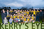 The Liebherr team celebrate after winning the All Ireland Senior A Inter firm final against reigning champions Medronic (Galway) in Fossa on Friday