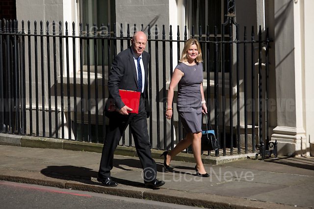 (From L to R) Damian Green (Secretary of State for Work and Pensions) & Justine Greening MP (Secretary of State for Education, Minister for Women and Equalities).<br />