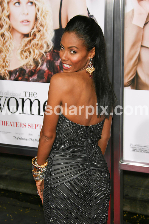 "**ALL ROUND PICTURES FROM SOLARPIX.COM**.**SYNDICATION RIGHTS FOR UK, SPAIN, PORTUGAL, AUSTRALIA, S.AFRICA & DUBAI (U.A.E) ONLY**.Guest arrivals for the premiere of the film ""The Women"".held at Mann Village Theater, Westwood, Los Angeles, CA, USA. 4th September 2008..This Pic: Jada Pinkett Smith..JOB REF: 7223 PHZ (Chris Hatcher)   .DATE: 04_09_2008.**MUST CREDIT SOLARPIX.COM OR DOUBLE FEE WILL BE CHARGED* *UNDER NO CIRCUMSTANCES IS THIS IMAGE TO BE REPRODUCED FOR ANY ONLINE EDITION WITHOUT PRIOR PERMISSION*"