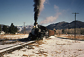 D&amp;RGW #473 with freight including a dead engine at the Chama wye.<br /> D&amp;RGW  Chama, NM
