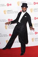 Ore Oduba in the winners room for the BAFTA TV Awards 2018 at the Royal Festival Hall, London, UK. <br /> 13 May  2018<br /> Picture: Steve Vas/Featureflash/SilverHub 0208 004 5359 sales@silverhubmedia.com